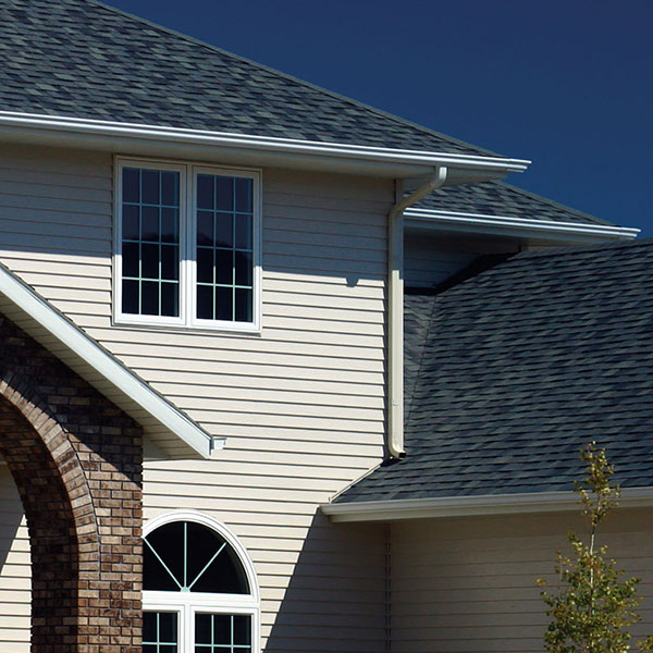 Steel siding system on a new construction home