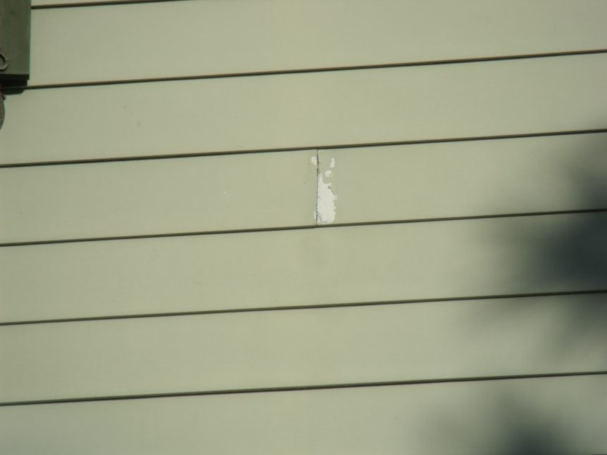 coating failure over fiber cement where butts were not caulked