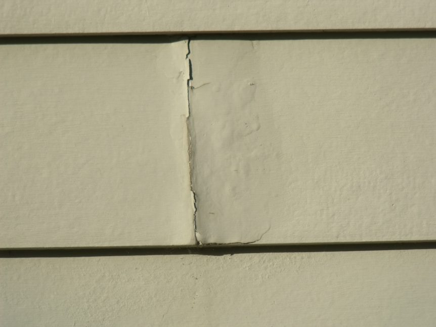 Cement board that has water damage and needs to be replaced