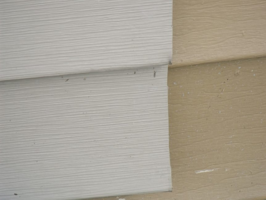 Vinyl siding that was manufactured with different colors